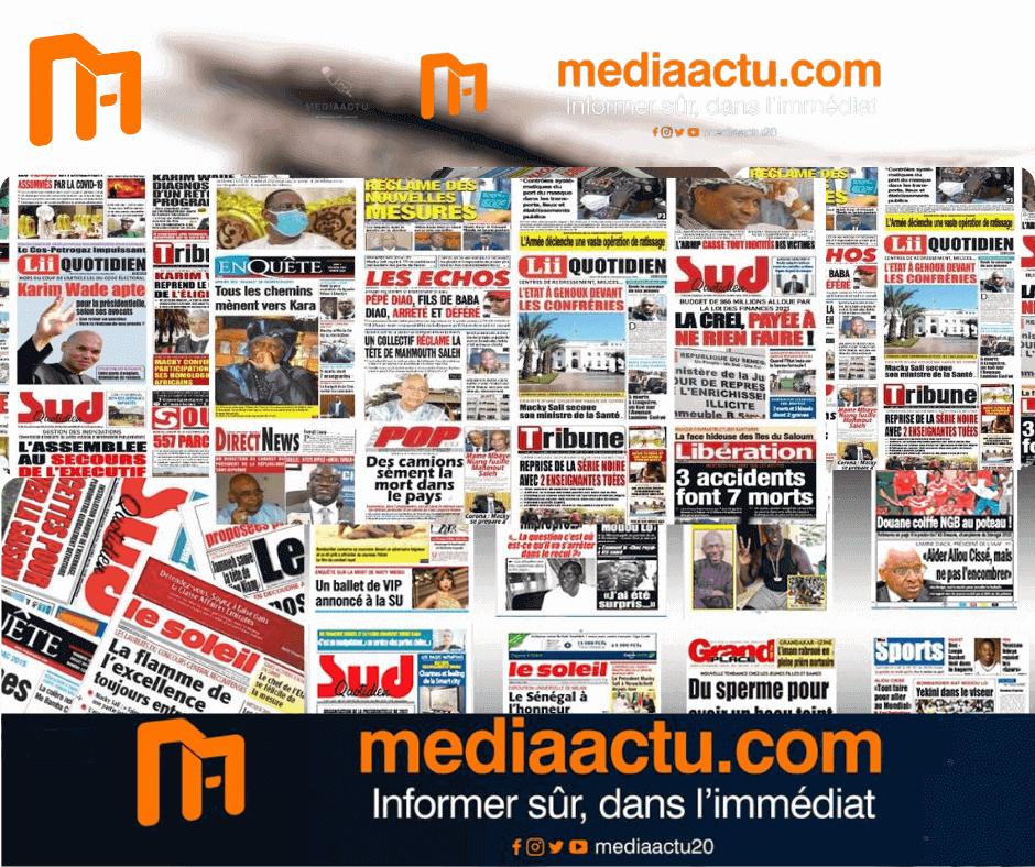 La revue de presse du vendredi 07 mai 2021 (Mediaactu)
