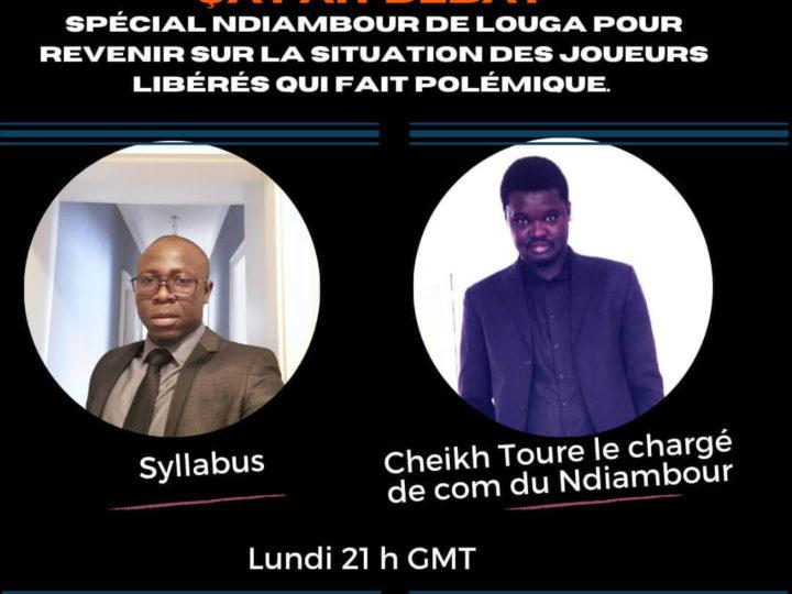 ÇA FAIT DÉBAT/Spécial Ndiambour avec Cheikh Touré: Le choix Sidatte au lieu de Moustapha Seck, les objectifs fixés par le club(Vidéo)