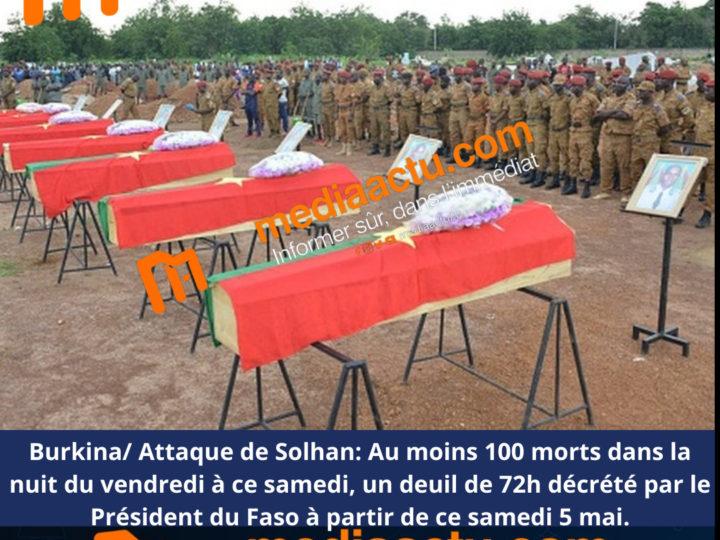 Burkina : l'Onu condamne l'attaque meurtrière contre une centaine de civils